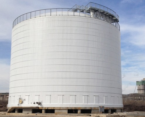 Double walled ammonia storage tank