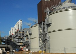 Full scope biomass handling and storage installation