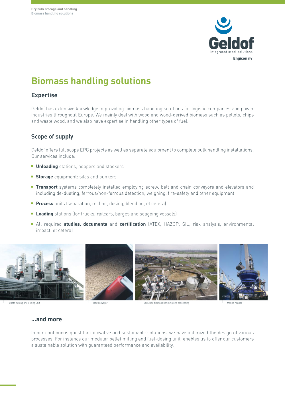 Geldof - Flyer - DB - Biomass handling solutions - EN