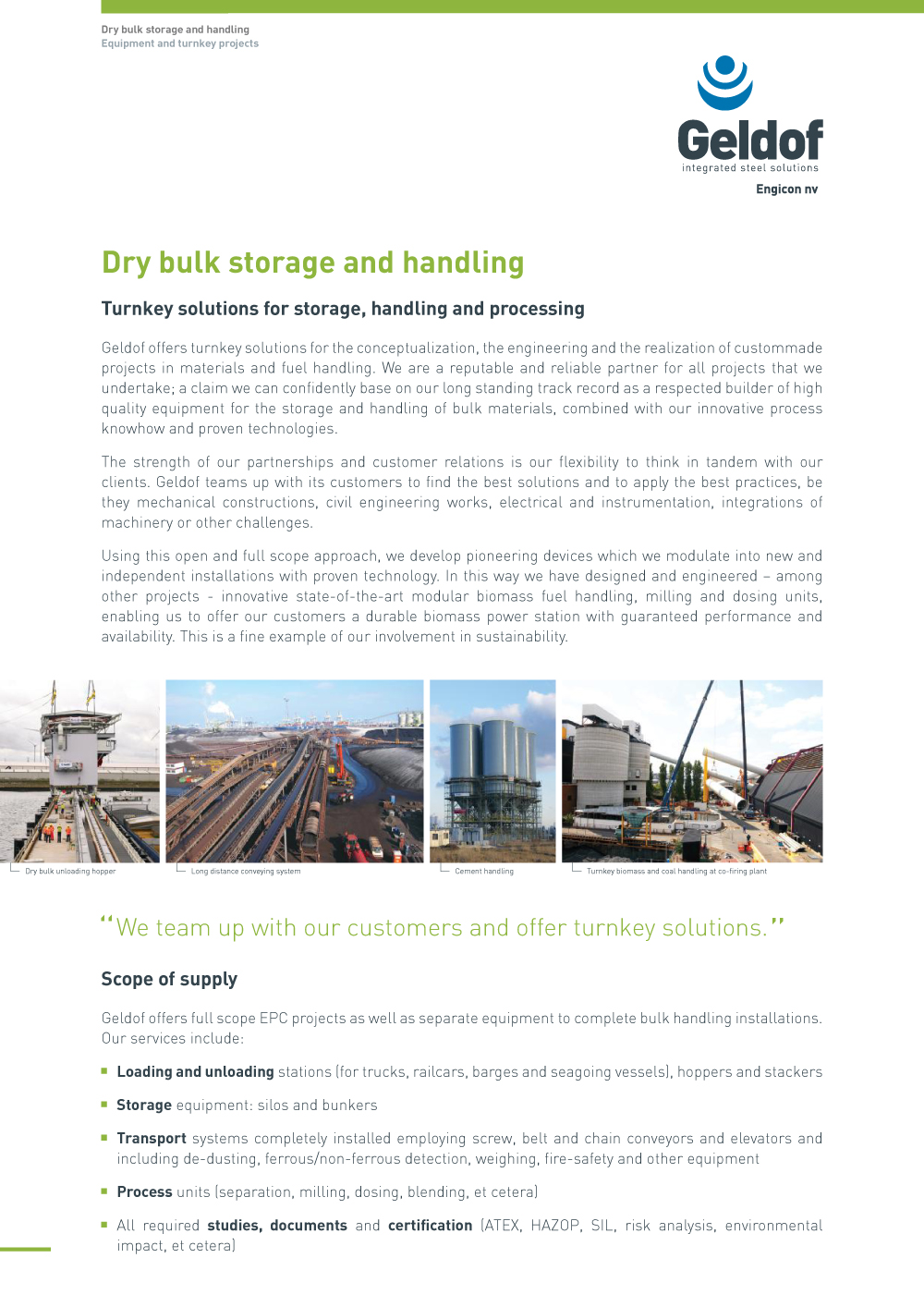 Geldof - Flyer - DB - Dry bulk storage and handling - EN