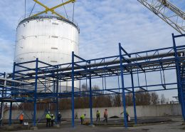 Off-site built storage tanks