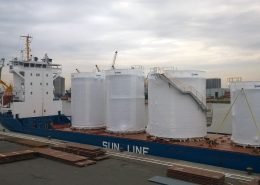 Off-site built storage tanks