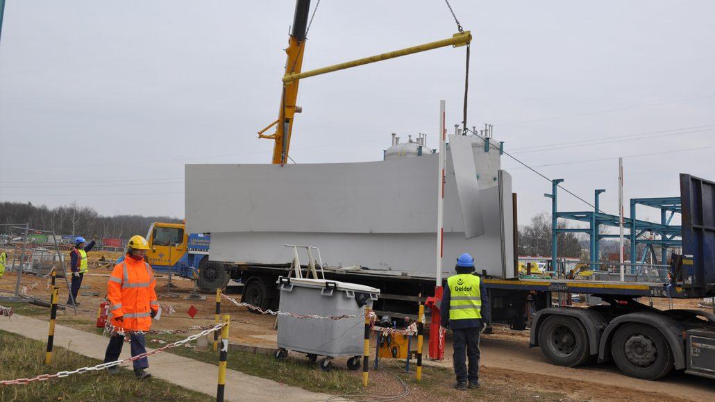 Site built storage tank