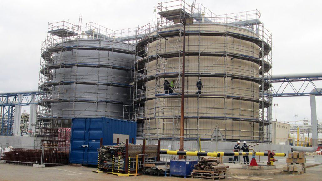 Site built storage tanks