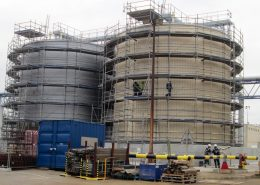 Site built storage tanks