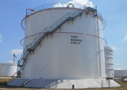 3 Storage tanks for aromatic nafta