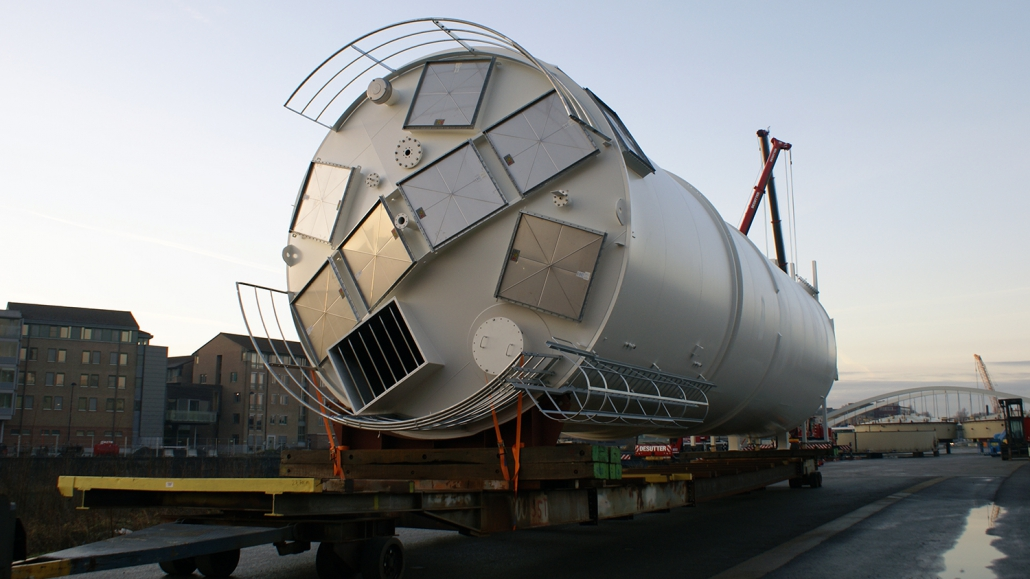 Silo for wood dust